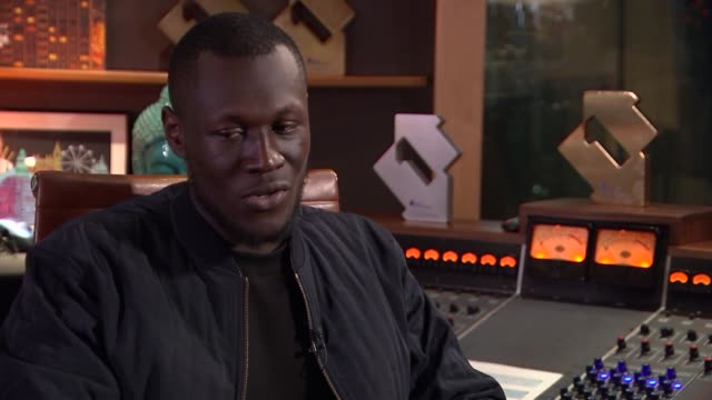 stormzy interview music stormzy interview stormzy interview sot re going through depression cutaway shots and recording equipment - stormzy stock videos and b-roll footage