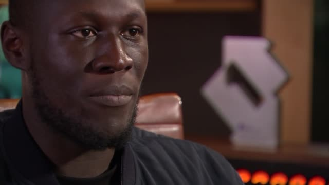 stormzy interview music stormzy interview stormzy interview sot re struggling with depression cutaways reporter - stormzy stock videos and b-roll footage