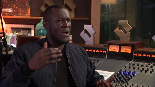 stormzy interview reporter asking question sot stormzy interview sot can't rely on politicians to take care of our needs cutaways reporter - stormzy stock videos and b-roll footage