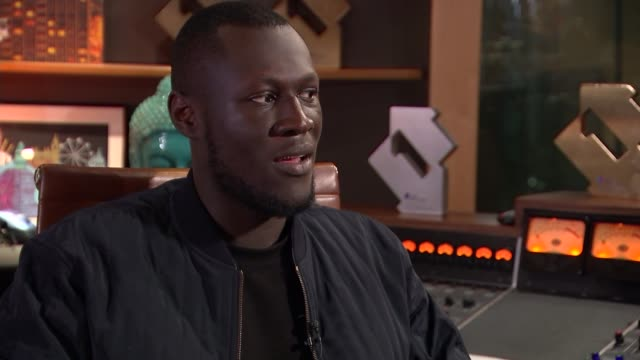 stormzy interview stormzy interview sot re diversity at brit awards - stormzy stock videos and b-roll footage