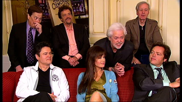 the osmonds 50th anniversary tour; marie osmond interview sot - on doing anniversary tour reporter question sot jimmy osmond interview sot - on being... - the osmonds stock videos & royalty-free footage