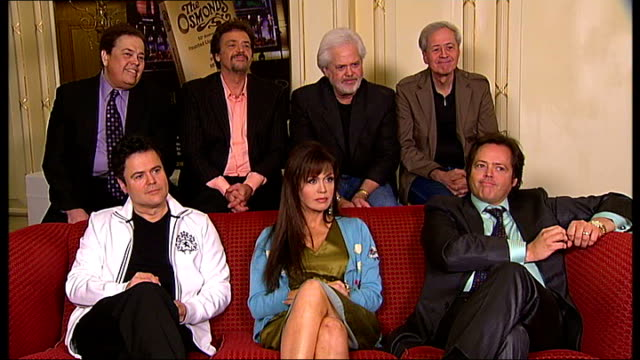 the osmonds 50th anniversary tour; the osmonds interviewed sot - the osmonds stock videos & royalty-free footage
