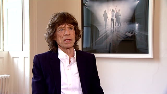 'the rolling stones 50' exhibition mick jagger interview sir mick jagger interview sot on the exhibition book / on photographs in the exhibition / on... - rolling stones stock videos & royalty-free footage
