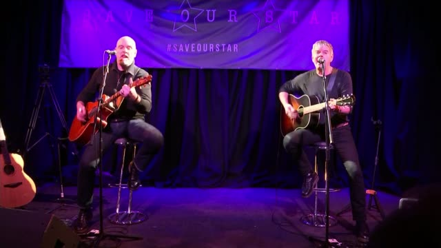 the stranglers join fight to save venue where they first performed; england: surrey: guildford: the star inn: int baz warne and jean-jacques burnel... - guildford stock videos & royalty-free footage