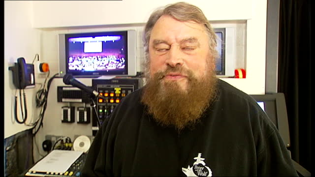 thunderbirds concert at royal festival hall brian blessed interview sot reporter to camera - royal festival hall stock videos and b-roll footage