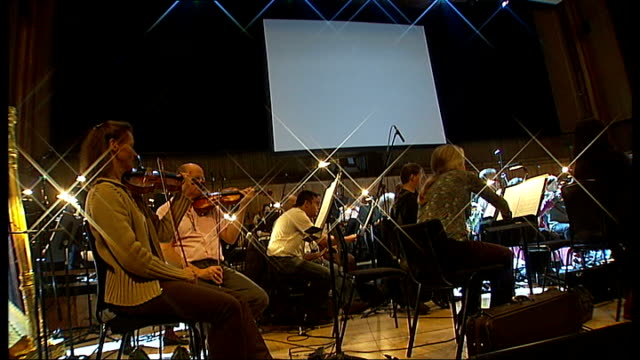 thunderbirds concert at royal festival hall england london royal festival hall int orchestra rehearsing music by composer barry gray sot - compositore video stock e b–roll
