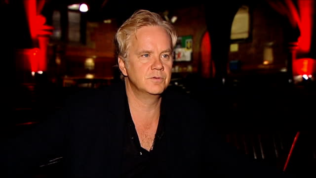 Tim Robbins performing with Rugues Gallery and interview Tim Robbins interview SOT re amazing venue perfoming in a band on his children being...