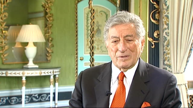 tony bennett interviewed england london int tony bennett interview sot i went through a period when i was drugged out a bit the best thing that had... - tony bennett singer stock videos and b-roll footage