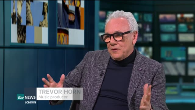 Trevor Horn interview on new album 'Trevor Horn Reimagines The Eighties' ENGLAND London GIR INT Trevor Horn LIVE STUDIO interview SOT