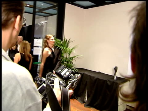 music hall of fame awards; 00.30.56 lms & cms priscilla presley aka priscilla beaulieu presley and sir richard branson pose at photocall, **... - プリシラ プレスリー点の映像素材/bロール