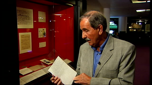 unpublished lyrics by george harrison unveiled at british library; hunter davies interview sot - george harrison stock videos & royalty-free footage