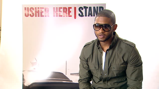 Usher interview ENGLAND London INT Usher interview SOT Speaking to different generations with a wide variety of music / Giving you a little bit of...