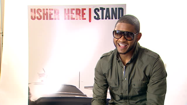 usher interview; england: london: int usher interview sot - talks about the weather and the fact that wherever he takes his son the sun shines -... - cursor stock videos & royalty-free footage