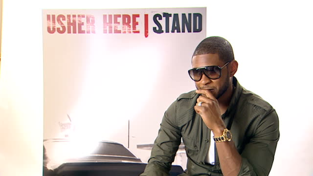 usher interview; usher interview sot - haven't found a downside to getting old yet / but i'm not 40! / as you grow older you should get more... - usher stock videos & royalty-free footage