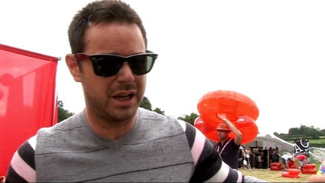 vídeos y material grabado en eventos de stock de festival 2010: day two; danny dyer interview sot - on the event, how he's not hardcore anymore, can't handle two days of partying, wants to be... - antiques roadshow