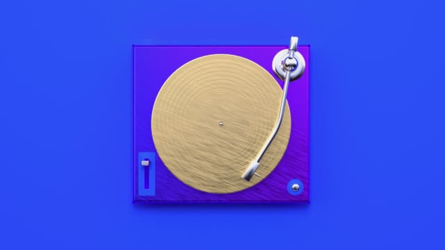 music vinyl player abstract 3d rendering motion blue background flat lay scene - still life stock videos & royalty-free footage