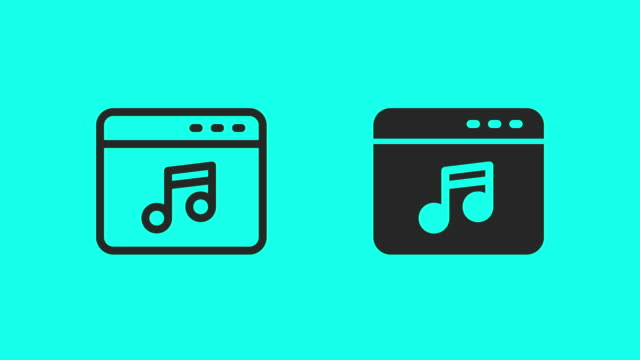 music web page icons - vector animate - global communications vector stock videos & royalty-free footage