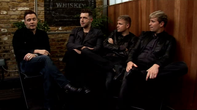 Westlife talk about new single and album Great there are new boy bands / good to have pop back in the charts / talks of Sharon Osbourne being back on...