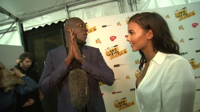 wiley on grime and dizzee rascal england london camden roundhouse rated awards red carpet int charlie sloth interview sot stormzy interview sot julie... - stormzy stock videos and b-roll footage