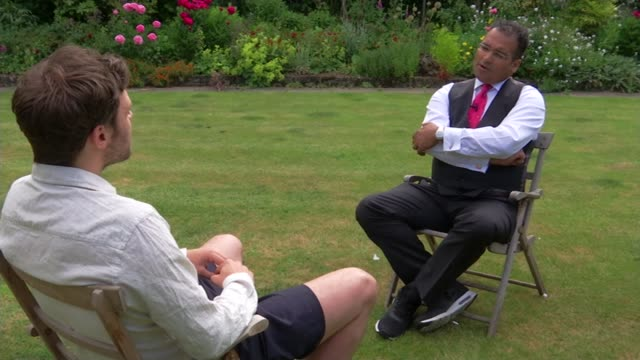 will young interview on mindfulness young interview sot - mindfulness stock videos & royalty-free footage