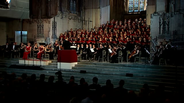 wwi british and german parliamentary choirs perform to mark christmas day 1914 truce various of joint british and german parliamentary choir... - music stand stock videos & royalty-free footage