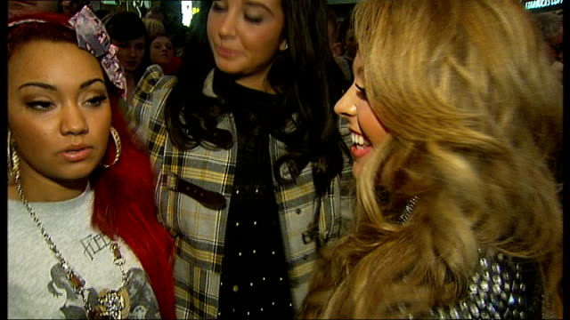 girl band little mix meet fans and interview; england: essex: romford: int **beware flash photography** little mix arriving in front of 'x factor'... - the x factor stock videos & royalty-free footage