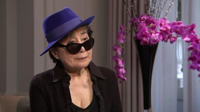 Yoko Ono interview ENGLAND London INT Yoko Ono interview SOT