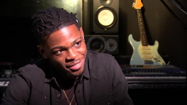 Yxng Bane interview ENGLAND London INT Yxng Bane interview SOT Reporter and Yxng Bane