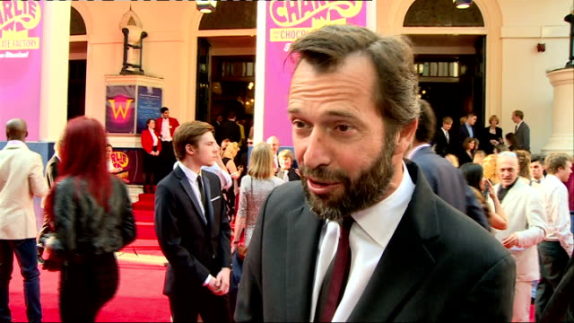 'charlie and the chocolate factory' theatre premiere arrivals and interviews england london theatre royal drury lane ext 'charlie and the chocolate... - theatre royal stock videos and b-roll footage