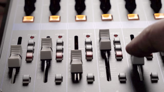 musical concert sound console panning clip mixing desk for church or events - backstage stock videos & royalty-free footage