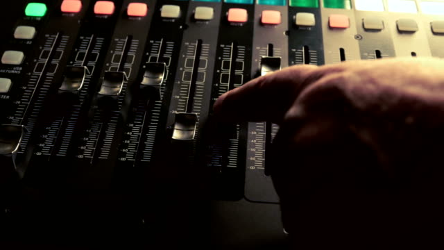 musical concert sound console panning clip - concert hall stock videos and b-roll footage