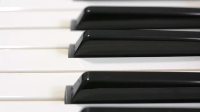 musical keyboard. - piano key stock videos & royalty-free footage