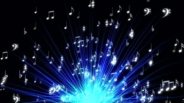 musical note concept - spartito video stock e b–roll