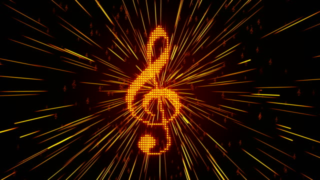 musical note - treble clef stock videos & royalty-free footage