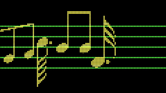 musical notes led screen - musical note stock videos & royalty-free footage
