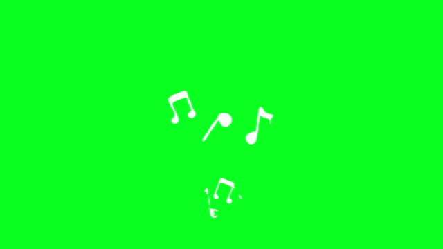 musical notes loopable animation - music stock videos & royalty-free footage