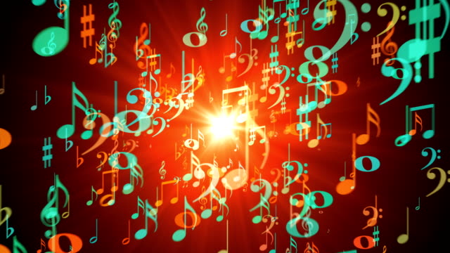 musical notes - treble clef stock videos & royalty-free footage