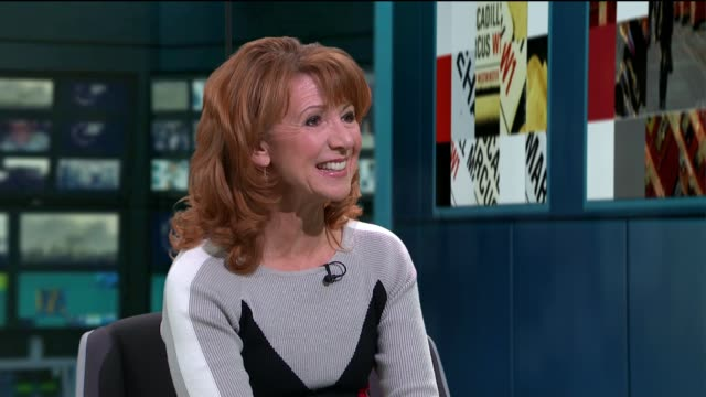 bonnie langford interview on new '42nd street' revival; england: london: gir: bonnie langford studio interview sot - revival stock videos & royalty-free footage