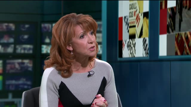 bonnie langford interview on new '42nd street' revival; england: london: gir: bonnie langford studio interview sot cutaway reporter - revival stock videos & royalty-free footage