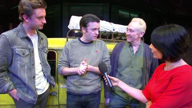 'only fools and horses' musical has run extended ahead of opening; england: london: piccadilly: theatre royal haymarket: tom bennett interview as... - theatre royal haymarket stock videos & royalty-free footage
