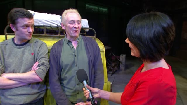 'only fools and horses' musical has run extended ahead of opening; england: london: piccadilly: theatre royal haymarket: paul whitehouse interview as... - theatre royal haymarket stock videos & royalty-free footage