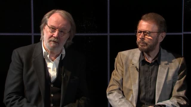 benny andersson bjorn ulvaeus and tim rice interview re chess benny andersson bjorn ulvaeus and tim rice interview continued sot - tim rice stock videos and b-roll footage