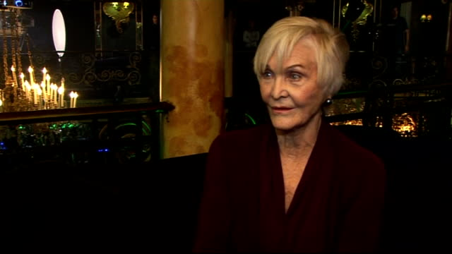 'over the rainbow' casting search launch: interviews with stars of the show; england: london: int sheila hancock interview sot - how life is busy for... - epic film stock videos & royalty-free footage