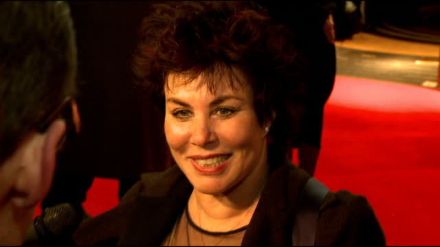 'the book of mormon' red carpet arrivals and after show reactions ruby wax / ruby wax and frances barber interview sot - ruby wax stock-videos und b-roll-filmmaterial
