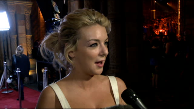 'the book of mormon' red carpet arrivals and after show reactions sheridan smith interview sot - sheridan smith stock videos & royalty-free footage