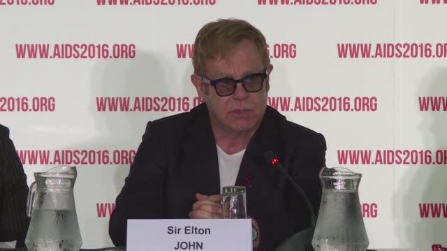musician and activist elton john speaks at the international aids conference calling on the inclusion of those affected by hiv/aids - hiv aids conference stock videos & royalty-free footage