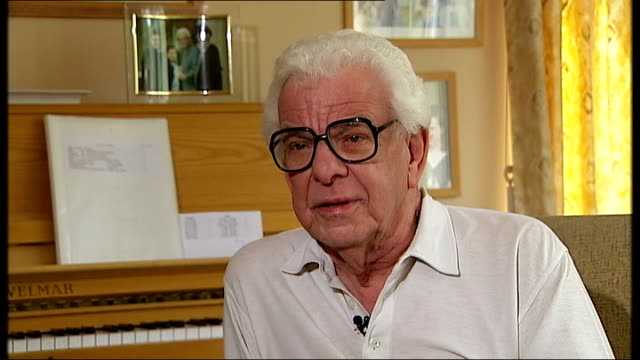 musician and radio presenter humphrey lyttelton dies; england: int barry cryer interview sot - no-one else could have got away with lines he got away... - barry cryer stock videos & royalty-free footage