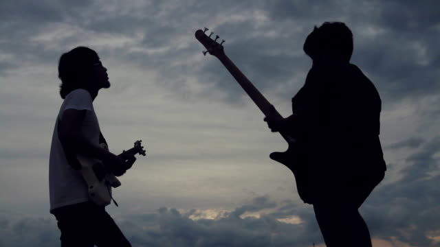 musician jam music on outdoor stage - artist stock videos & royalty-free footage