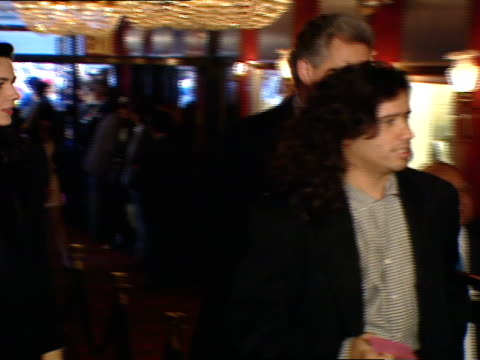musician john jellybean benitez walking through ziegfeld theatre lobby, people, press, attendants around, taking up escalator w/ other people. - jellybean stock videos & royalty-free footage