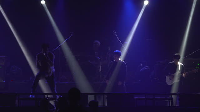 musician play and sing on stage. - boy band stock videos & royalty-free footage